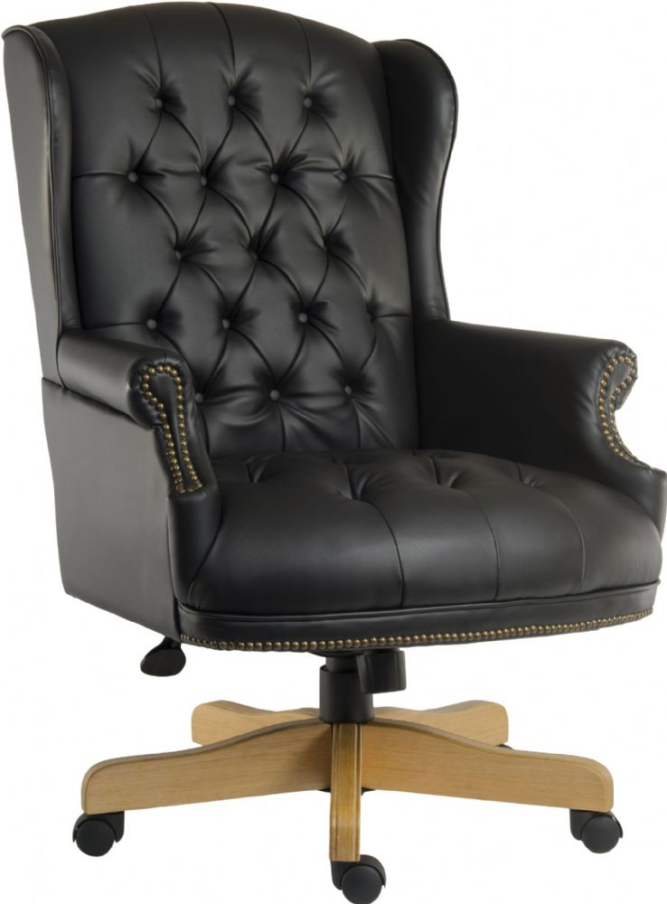 TEKNIK Chairman Luxurious Executive Swivel Chair. Available in Black or Red Leather
